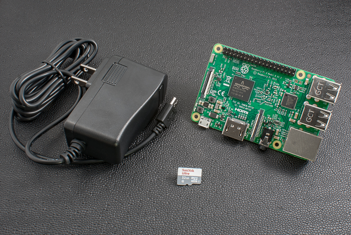 Raspberry Pi 3 + 32G microSD + 5V 2.5A Power Supply