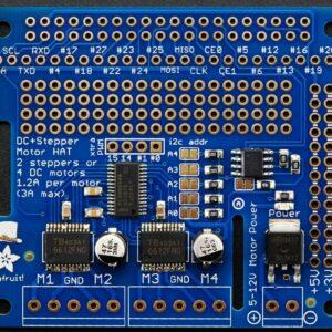 Adafruit DC Stepper Motor HAT for Raspberry Pi Mini Kit 4