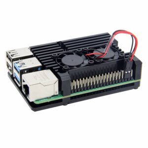 raspberry Pi aluminum case with dual cooling fan for pi 4 model B 1